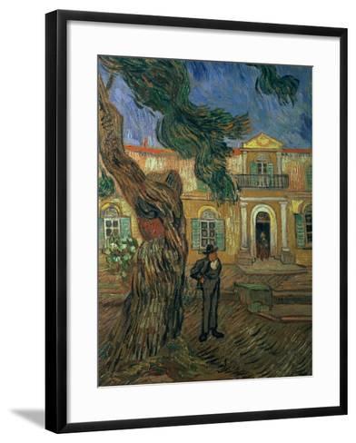 St. Paul's Hospital, St Remy, 1889-Vincent van Gogh-Framed Art Print
