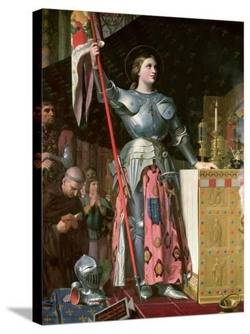 Joan of Arc (1412-31) at the Coronation of King Charles Vii (1403-61) 17th July 1429, 1854-Jean-Auguste-Dominique Ingres-Stretched Canvas Print