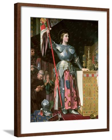 Joan of Arc (1412-31) at the Coronation of King Charles Vii (1403-61) 17th July 1429, 1854-Jean-Auguste-Dominique Ingres-Framed Art Print