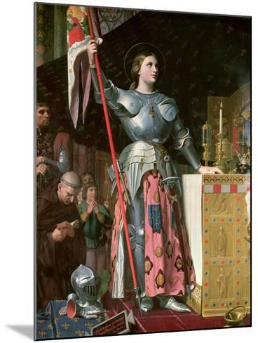 Joan of Arc (1412-31) at the Coronation of King Charles Vii (1403-61) 17th July 1429, 1854-Jean-Auguste-Dominique Ingres-Mounted Giclee Print