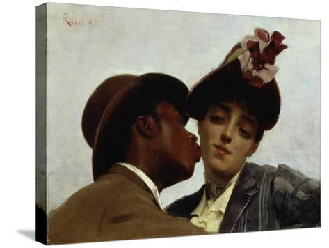 The Kiss, 1887-Theodore Jacques Ralli-Stretched Canvas Print