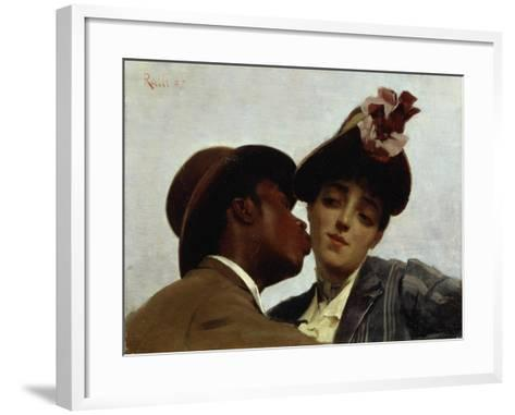 The Kiss, 1887-Theodore Jacques Ralli-Framed Art Print