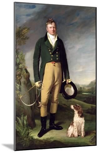 An Unknown Man with His Dog, 1815-William Owen-Mounted Giclee Print