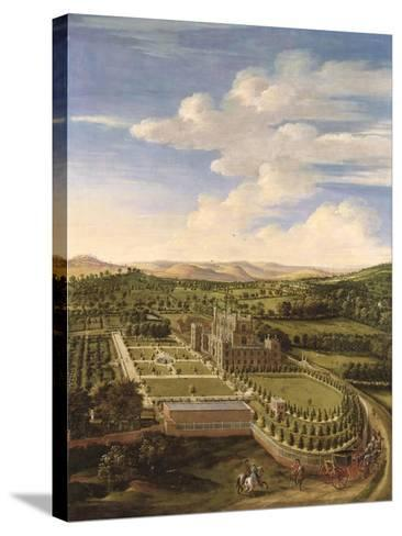 Wollaton Hall and Park, Nottingham, 1697-Jan Siberechts-Stretched Canvas Print
