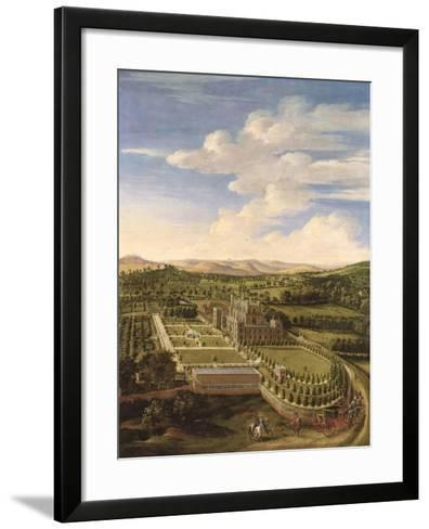 Wollaton Hall and Park, Nottingham, 1697-Jan Siberechts-Framed Art Print