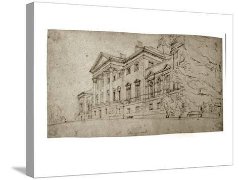 Harewood House, Yorkshire, C.1798 (Graphite on Textured Wove Paper)-Thomas Girtin-Stretched Canvas Print