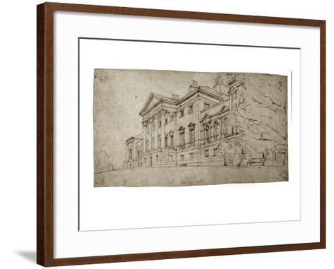 Harewood House, Yorkshire, C.1798 (Graphite on Textured Wove Paper)-Thomas Girtin-Framed Art Print