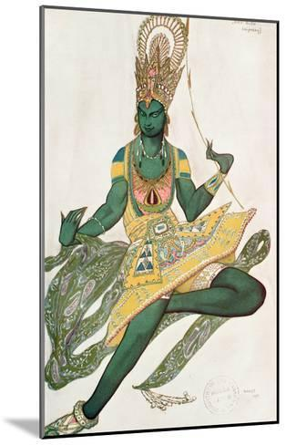 Costume Design for Nijinsky (1889-1950) for His Role as the 'Blue God', 1911 (W/C on Paper)-Leon Bakst-Mounted Giclee Print
