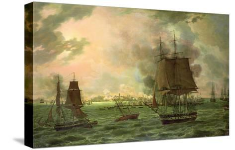 The Bombing of Cadiz by the French on 23rd September 1823, 1824-Louis Philippe Crepin-Stretched Canvas Print