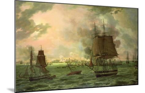 The Bombing of Cadiz by the French on 23rd September 1823, 1824-Louis Philippe Crepin-Mounted Giclee Print