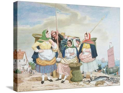 Fish Market by the Sea, c.1860-Richard Dadd-Stretched Canvas Print