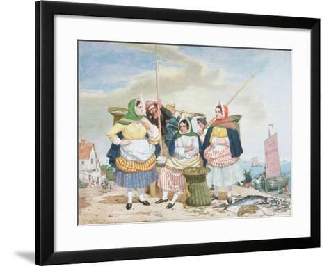 Fish Market by the Sea, c.1860-Richard Dadd-Framed Art Print