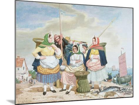 Fish Market by the Sea, c.1860-Richard Dadd-Mounted Giclee Print