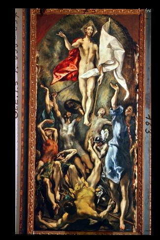 The Resurrection, 1584-94-El Greco-Stretched Canvas Print
