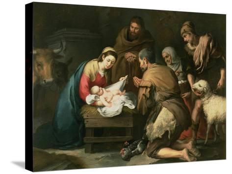 The Adoration of the Shepherds, c.1650-Bartolome Esteban Murillo-Stretched Canvas Print