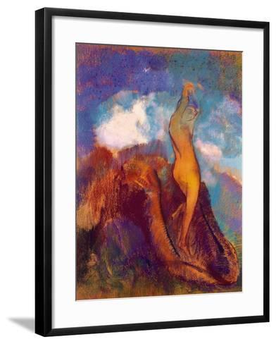 The Birth of Venus, 1912 (Pastel on Paper)-Odilon Redon-Framed Art Print
