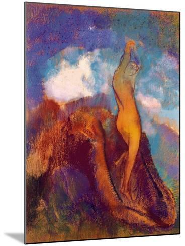 The Birth of Venus, 1912 (Pastel on Paper)-Odilon Redon-Mounted Giclee Print