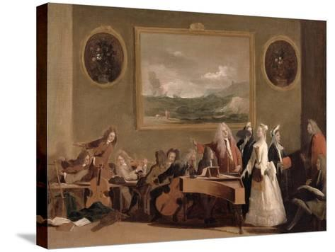 Rehearsal of an Opera, c.1709-Marco Ricci-Stretched Canvas Print