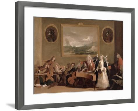 Rehearsal of an Opera, c.1709-Marco Ricci-Framed Art Print