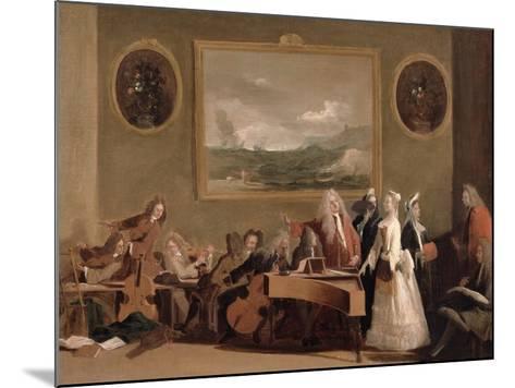 Rehearsal of an Opera, c.1709-Marco Ricci-Mounted Giclee Print