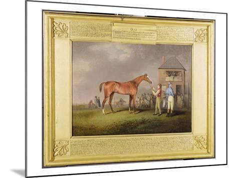 Portrait of 'Quiz', the Property of Lord Rous, after His Last Race at Newmarket-Henry Bernard Chalon-Mounted Giclee Print