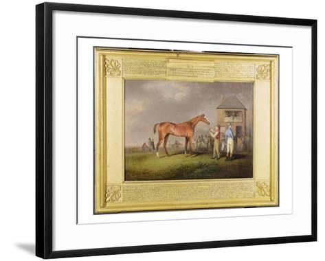 Portrait of 'Quiz', the Property of Lord Rous, after His Last Race at Newmarket-Henry Bernard Chalon-Framed Art Print