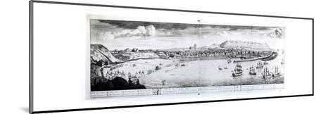 View of Scarborough, 1735 (Engraving) (B/W Photo)-English-Mounted Giclee Print