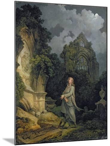 Visitor to a Moonlit Churchyard, 1790-Philip James Loutherbourg-Mounted Giclee Print