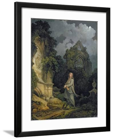 Visitor to a Moonlit Churchyard, 1790-Philip James Loutherbourg-Framed Art Print