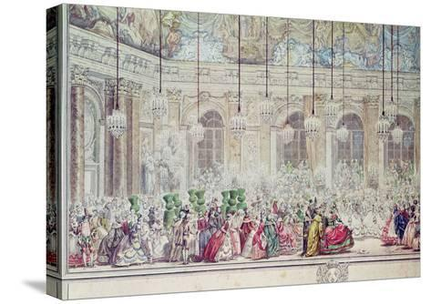 The Masked Ball at the Galerie Des Glaces on the Occasion of the Marriage of the Dauphin-Charles Nicolas II Cochin-Stretched Canvas Print