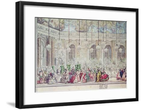 The Masked Ball at the Galerie Des Glaces on the Occasion of the Marriage of the Dauphin-Charles Nicolas II Cochin-Framed Art Print