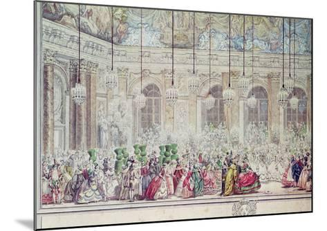 The Masked Ball at the Galerie Des Glaces on the Occasion of the Marriage of the Dauphin-Charles Nicolas II Cochin-Mounted Giclee Print