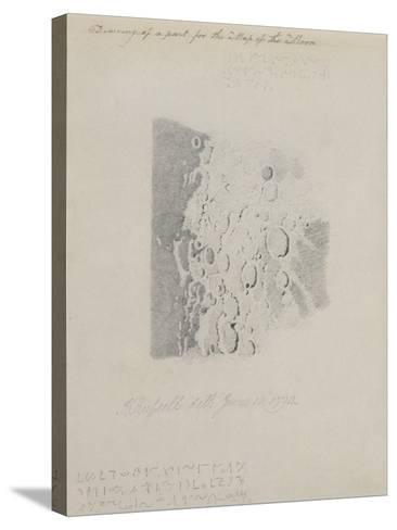 Drawing for the Map of the Moon, 1794 (Pencil on Paper)-John Russell-Stretched Canvas Print