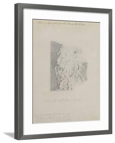 Drawing for the Map of the Moon, 1794 (Pencil on Paper)-John Russell-Framed Art Print