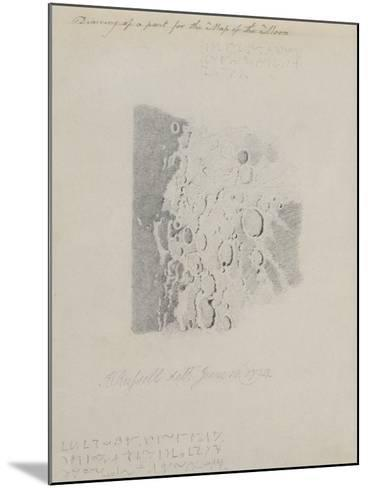Drawing for the Map of the Moon, 1794 (Pencil on Paper)-John Russell-Mounted Giclee Print
