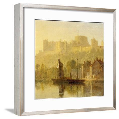 Windsor Castle from the Thames (Oil on Millboard)-William Daniell-Framed Art Print