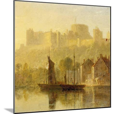 Windsor Castle from the Thames (Oil on Millboard)-William Daniell-Mounted Giclee Print