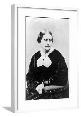 Susan Brownell Anthony (1820-1906) C.1871 (B/W Photo)-American Photographer-Framed Art Print