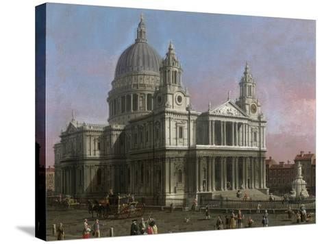 St. Paul's Cathedral, 1754-Canaletto-Stretched Canvas Print