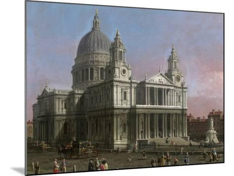 St. Paul's Cathedral, 1754-Canaletto-Mounted Giclee Print