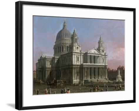 St. Paul's Cathedral, 1754-Canaletto-Framed Art Print