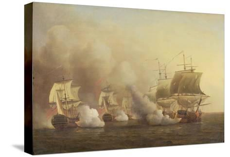 Action Off the Cape of Good Hope, March 9Th, 1757-Samuel Scott-Stretched Canvas Print