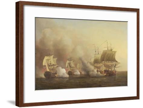 Action Off the Cape of Good Hope, March 9Th, 1757-Samuel Scott-Framed Art Print