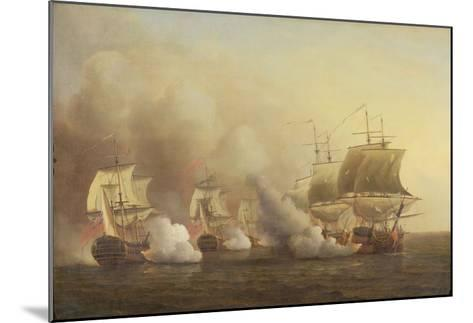 Action Off the Cape of Good Hope, March 9Th, 1757-Samuel Scott-Mounted Giclee Print