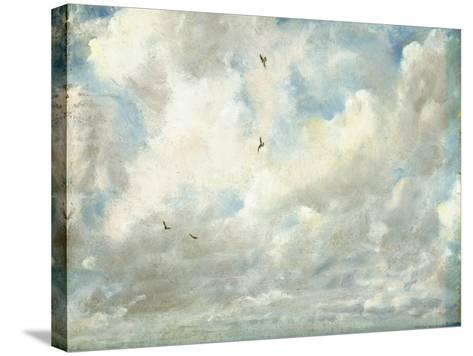 Cloud Study, 1821 (Oil on Paper Laid Down on Board)-John Constable-Stretched Canvas Print