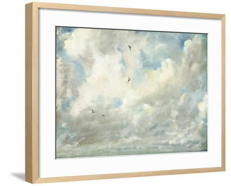 Cloud Study, 1821 (Oil on Paper Laid Down on Board)-John Constable-Framed Art Print
