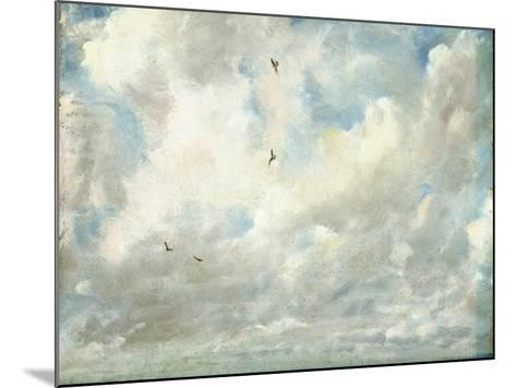 Cloud Study, 1821 (Oil on Paper Laid Down on Board)-John Constable-Mounted Giclee Print