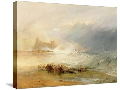Wreckers - Coast of Northumberland, with a Steam Boat Assisting a Ship Off Shore, 1834-J^ M^ W^ Turner-Stretched Canvas Print