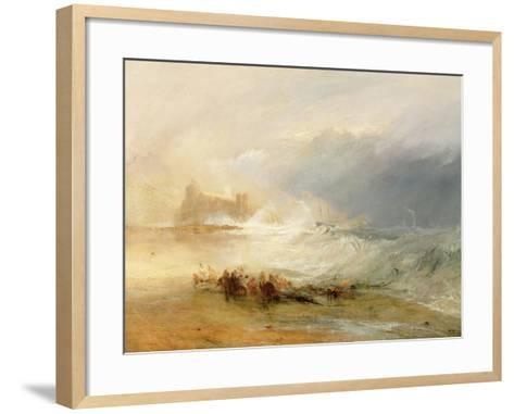 Wreckers - Coast of Northumberland, with a Steam Boat Assisting a Ship Off Shore, 1834-J^ M^ W^ Turner-Framed Art Print