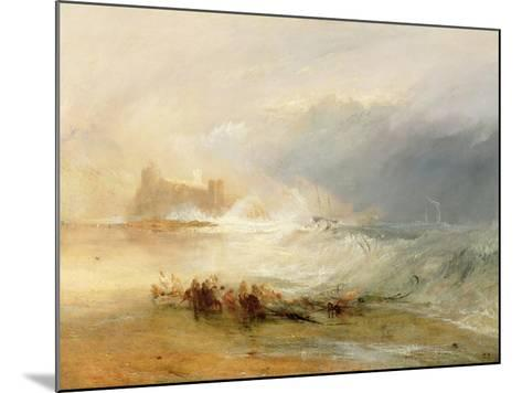Wreckers - Coast of Northumberland, with a Steam Boat Assisting a Ship Off Shore, 1834-J^ M^ W^ Turner-Mounted Giclee Print